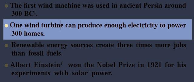 معنی فارسی One wind turbine can produce enough electricity to power 300 homes