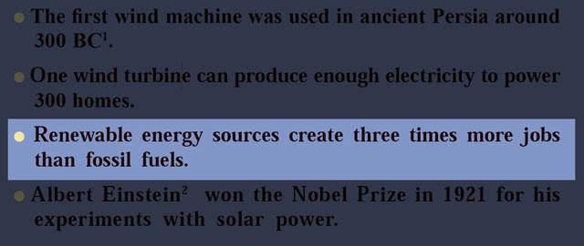 معنی فارسی Renewable energy sources create three times more jobs than fossil fuels